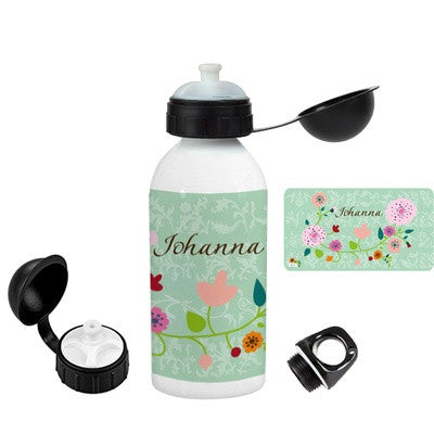 Personalized Flask Floral Mint - PetitePeople