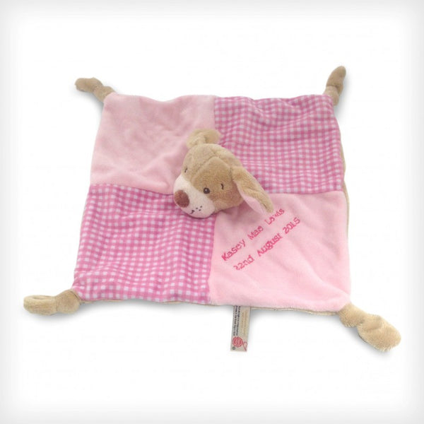Baby's First Blanket/Comforter 28cm Pink Puppy - PetitePeople