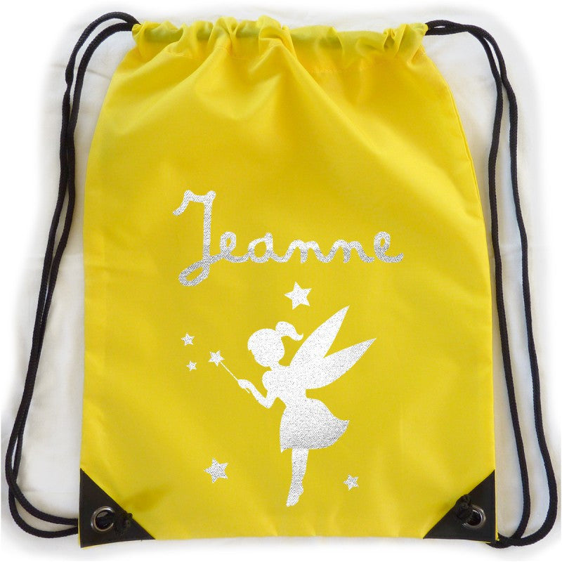 Personalised kit bag - yellow fairy - PetitePeople