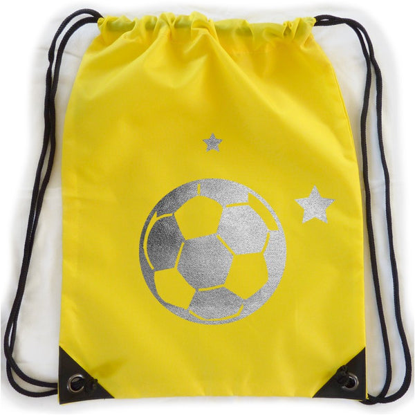 Personalised kit bag - Yellow football - PetitePeople