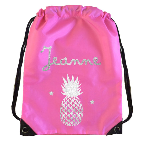 Personalised kit bag - Pink Pineapple - PetitePeople