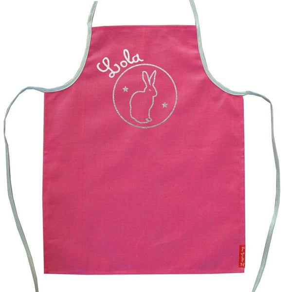 Personalised apron with silver prints - PetitePeople