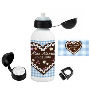 "Personalised drinking bottle ""honey heart cake"" - PetitePeople"