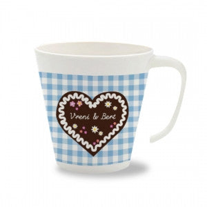 Personalised Cup with Handle honey heart cake - PetitePeople