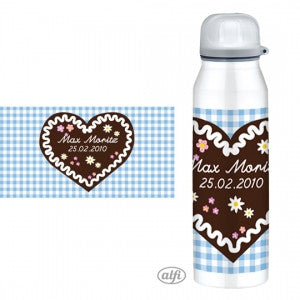 Personalised Alfi Insulated Flask honey heart cake blue - PetitePeople