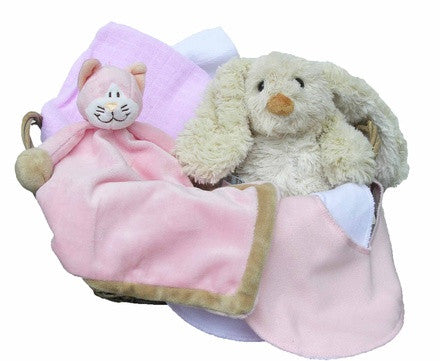 Personalised Cat Gift Basket (pink, small) - PetitePeople
