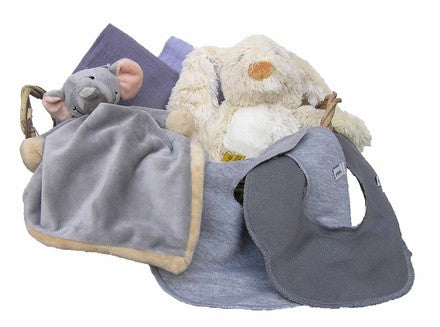 Personalized Elephant Gift Basket (gray, small) - PetitePeople