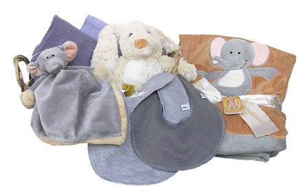 Personalized Elephant Gift Basket (grey, large) - PetitePeople