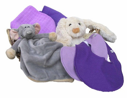 Personalized Elephant Gift Basket (purple, small) - PetitePeople