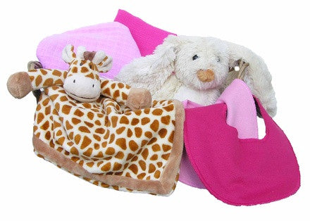 Personalized Giraffe Gift Basket (pink, small) - PetitePeople