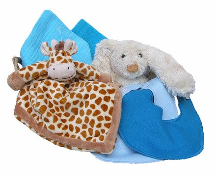 Personalized Giraffe Gift Basket (turquoise, small) - PetitePeople
