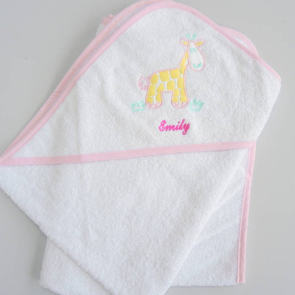 Personalised Baby Girl Hooded Towels - PetitePeople