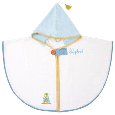 Personalized Playful Dog Hooded Bath Towel Ecru - PetitePeople