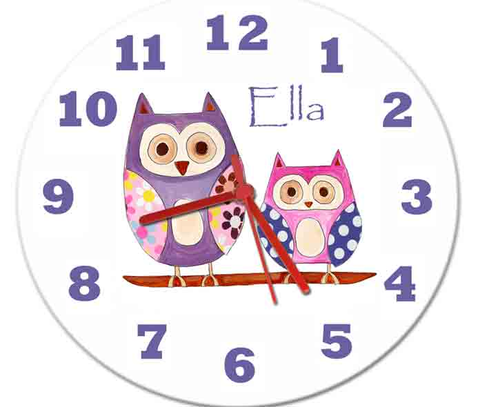 Hoot Owl Clock - PetitePeople, Clock[product_tag]
