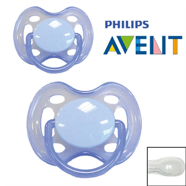 Philips Avent pacifiers with name Symmetrical Silicone, Size 2 from 6 months. Pack of 2 pcs. - PetitePeople