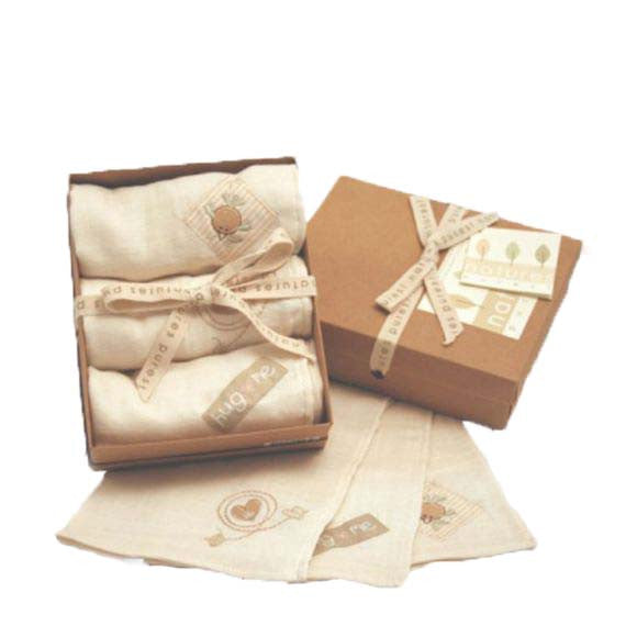 Natures Purest - organic cloth diapers in gift box 3 pcs. - PetitePeople