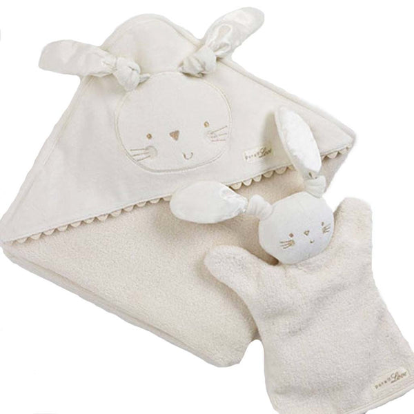 Natures Purest - organic personalized baby bathing towel in gift box - PetitePeople