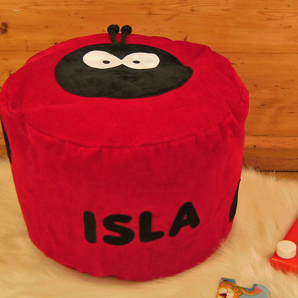 Personalised bean bag - Dotty lady bird - PetitePeople