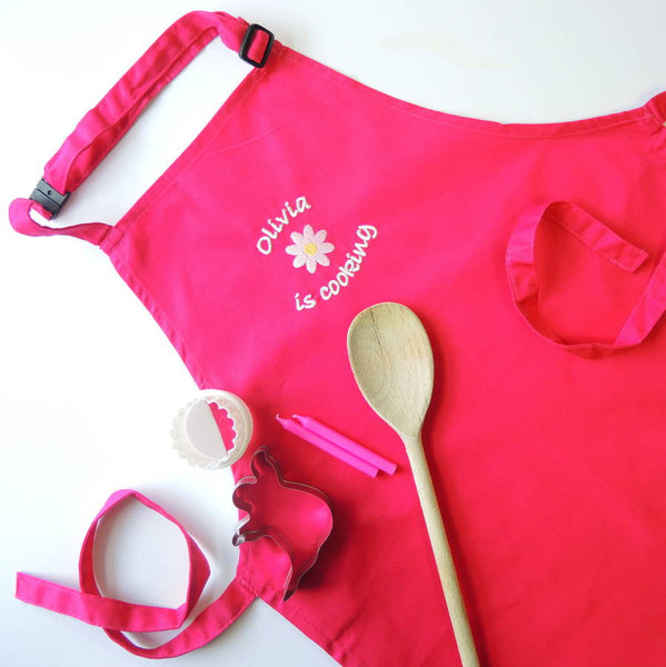 Kids Personalised Embroidered Apron - PetitePeople