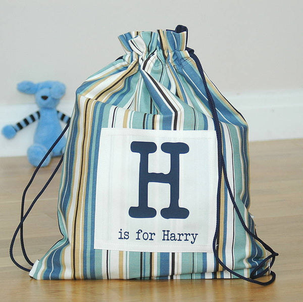 Boy's Personalised Kit Bags Printed Name - PetitePeople