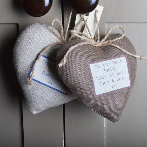 Personalised Luxury Linen Lavender Hearts - PetitePeople
