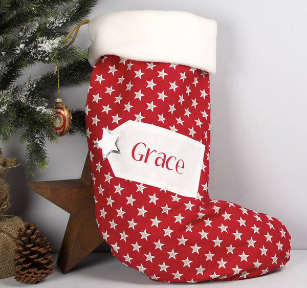 Personalised Star Christmas Stocking - PetitePeople