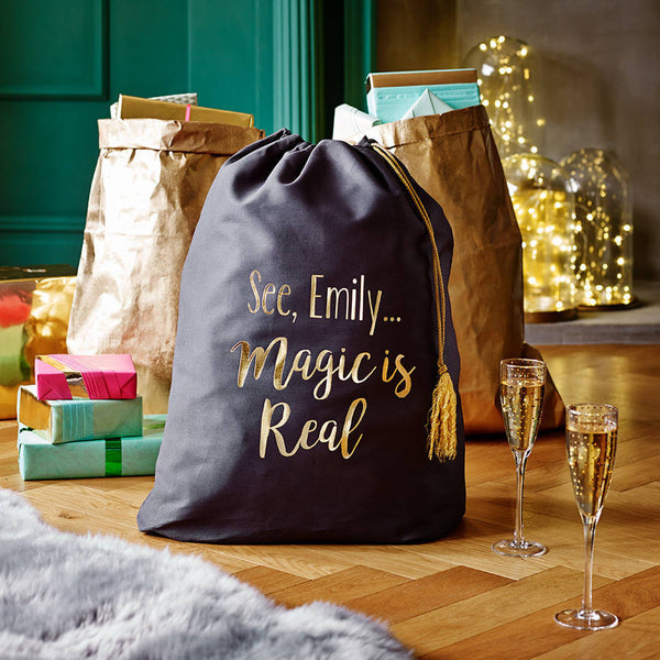 Personalised The Magic Is Real Christmas Sack - PetitePeople