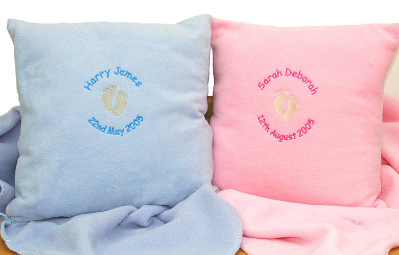 New Baby Personalised Name Cushion - PetitePeople