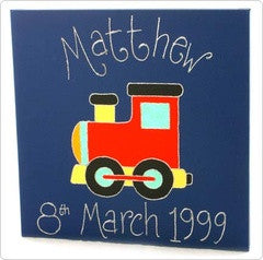 Personalised painting: Train - PetitePeople
