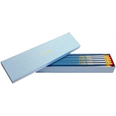 Personalised 12 Aqua Pencils in an Aqua Box - PetitePeople