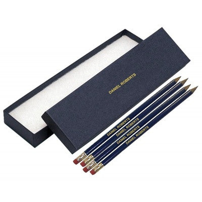Personalised 12 Blue Pencils in a Blue Box - PetitePeople