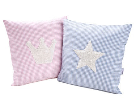 Personalized Gingham Pillow with Motif - PetitePeople
