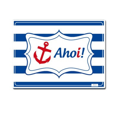 Personalized Placemat Blue Ahoy - PetitePeople