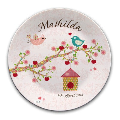 Personalized Plate Floral Rose - PetitePeople