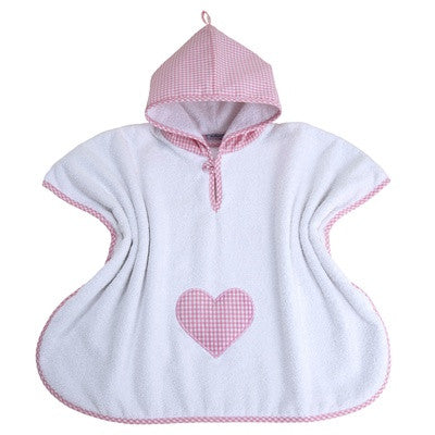 Personalised Bath Poncho (Pink Gingham) - PetitePeople