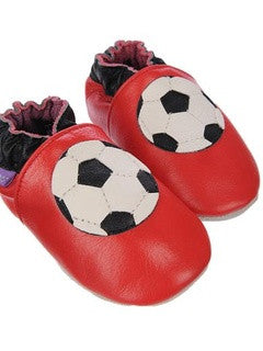 Leather Baby Shoes - Football - PetitePeople