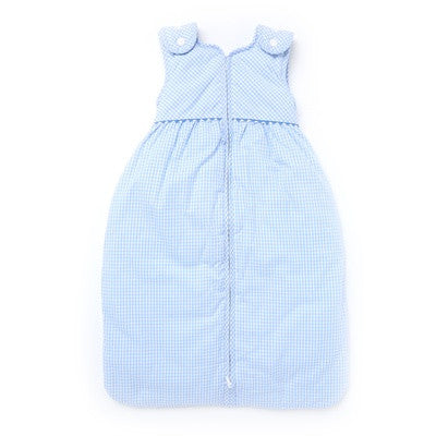 Blue Baby Lined Sleeping Bag with Buttons - PetitePeople