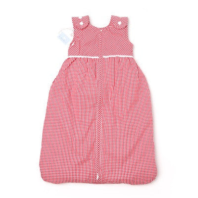 Red Baby Lined Sleeping Bag with Buttons - PetitePeople