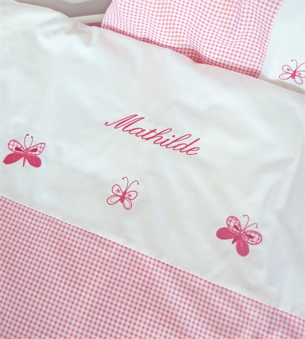 Baby bedding with name, girl, Butterfly - PetitePeople