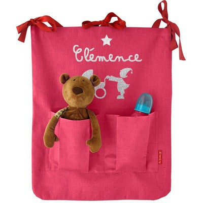 Personalized Coated Canvas Stroller Bag Pink - PetitePeople