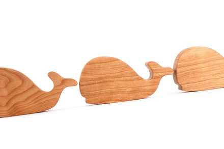 Personalized Wooden Whale Rattle - PetitePeople