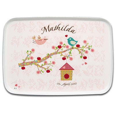 Personalized Tray Floral Rose - PetitePeople