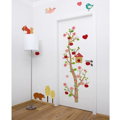 Personalized Measuring Wall Decal Floral Collection - PetitePeople