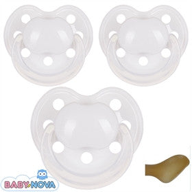 Baby Nova personalised pacifiers Anatomical Latex Str. 0-6 md. 3 in pack - PetitePeople