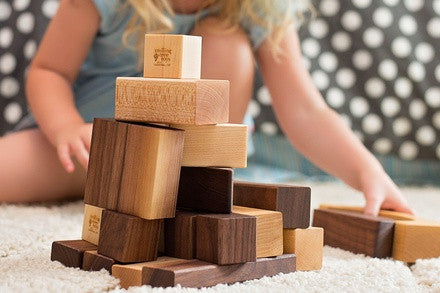 Personalised 20-piece Wooden Building Blocks - PetitePeople
