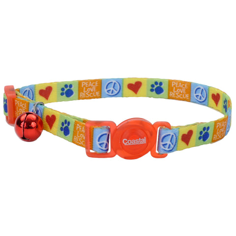 Fashion Breakaway Adjustable Cat Collar with Bell, Rescue