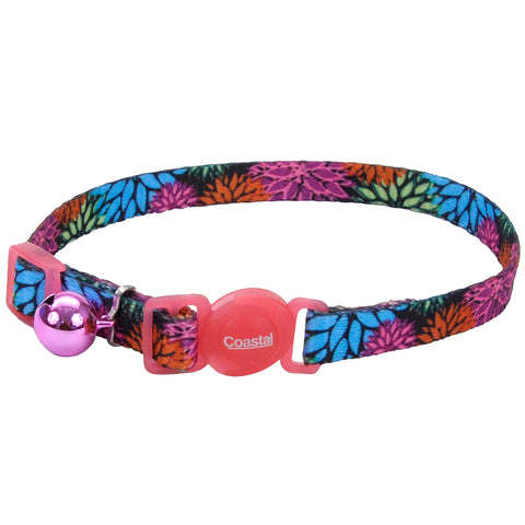 Fashion Breakaway Adjustable Cat Collar with Bell, Wildflower
