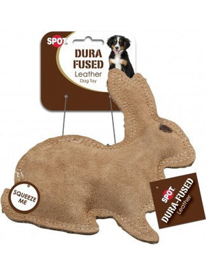 ethical pet spot dura fused leather rabbit dog toy