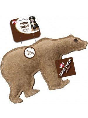 ethical pet spot dura fused leather bear dog toy