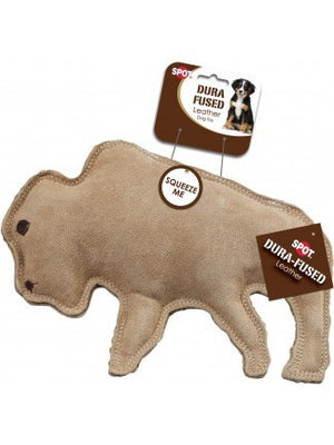ethical pet spot dura fused leather buffalo dog toy